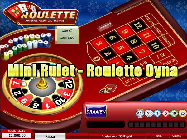 Mini Rulet, Mini Roulette, Mini Canlı Rulet, Mini Rulet Oyunu, Mini Rulet Oyna, Mini Roulette Oyna