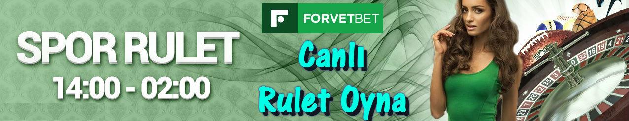 Forvetbet Rulet, Forvetbet Canlı Rulet, Forvetbet Rulet Oyna, Forvetbet Canlı Rulet Oyna