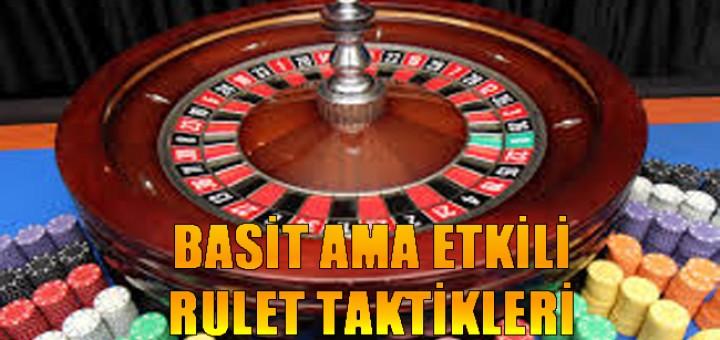 rulet oynama taktikleri, Basit rulet taktikleri, Rulet oynama stratejisi